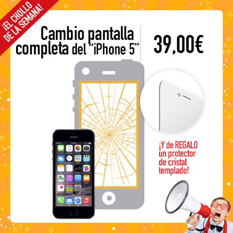 Cambio Pantalla iPhone 5 - Abril 2017