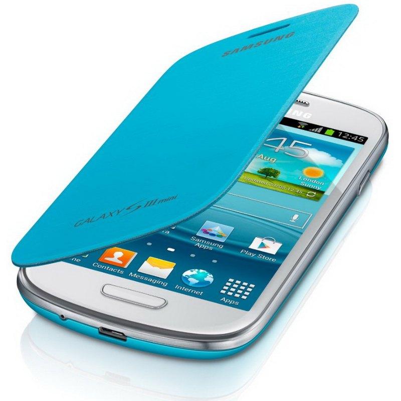 Funda original samsung galaxy s3 mini i8190 azul claro samsung telefon a m vil libre - Fundas para s3 mini ...