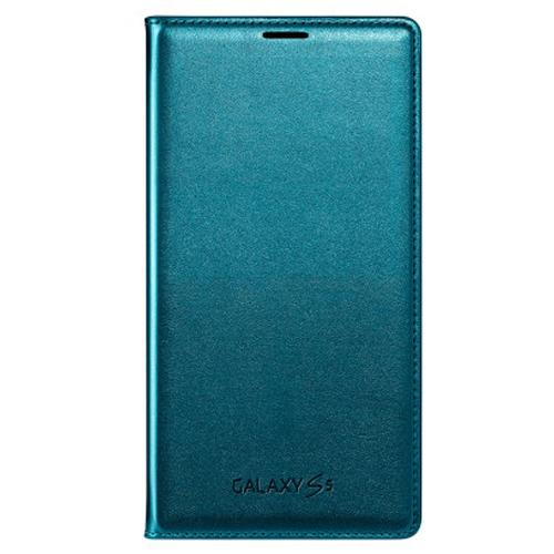 Funda Original Samsung Galaxy S5 Flip Cover Turquesa > Samsung