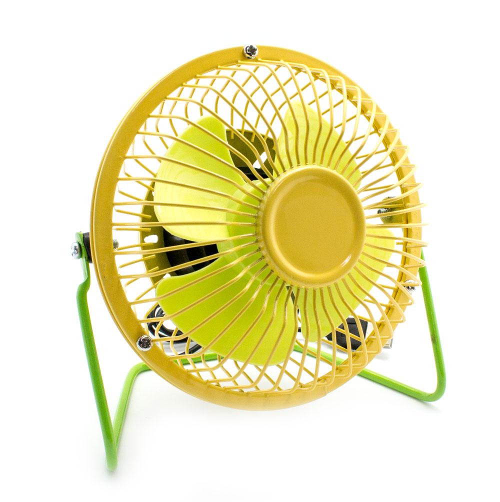 Mini ventilador sobremesa usb amarillo verde informatica accesorios usb - Ventilador de sobremesa ...
