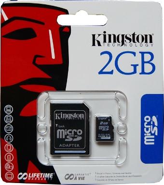 tarjeta de memoria 2 gb precio