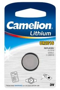 Boton Litio CR2016 3V (1 pcs) Camelion