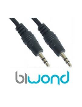 Cable Audio Estereo Jack 3.5mm 1.5m BIWOND