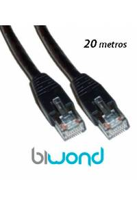 Cable Ethernet 20m Cat 6 BIWOND