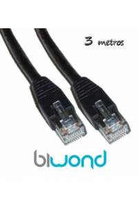 Cable Ethernet 3m Cat 6 BIWOND