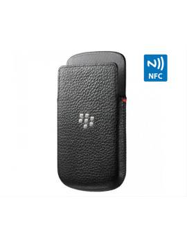 FUNDA BLACKBERRY POCKET PIEL Q5 NEGRA CON NFC